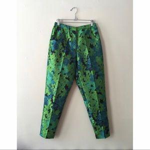 ASOS green floral pants